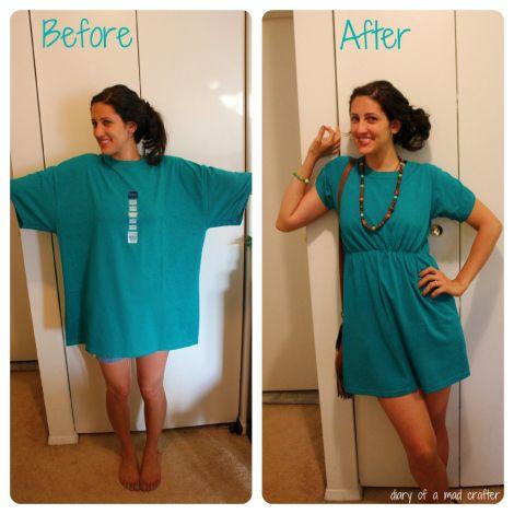 Vestido de la camiseta DIY lindo - una necesidad para la playa este verano!