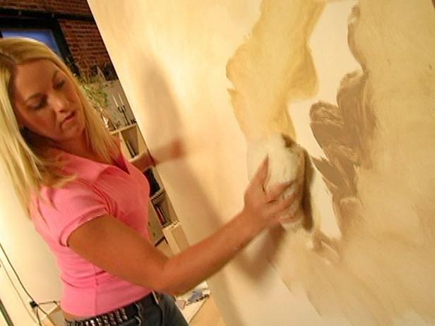 Pintura Spread en un movimiento circular.