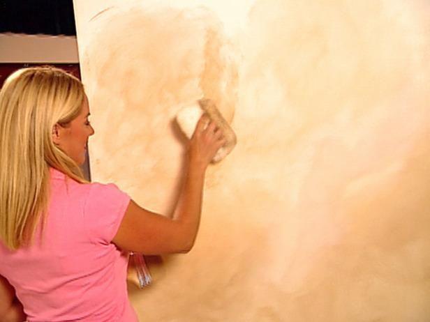 Fan cabo pintura con un cepillo seco.