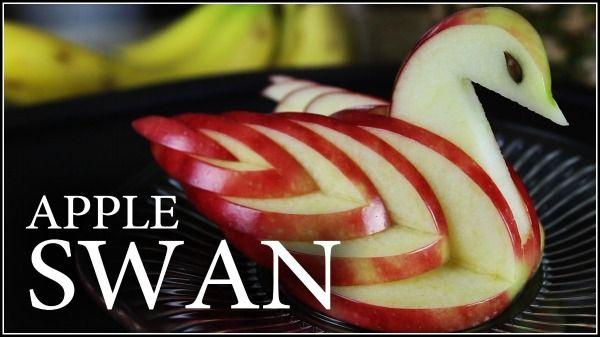 Delicioso Food Art: Cómo crear deliciosa manzana Cisne (los niños les encanta estos)