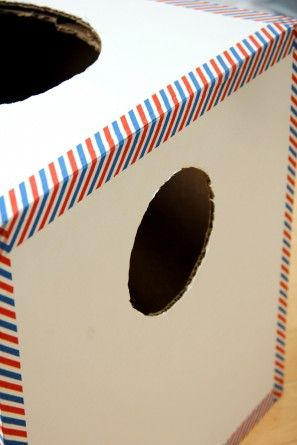 DIY Caja de cartón del correo aéreo Niños de disfraces de Halloween