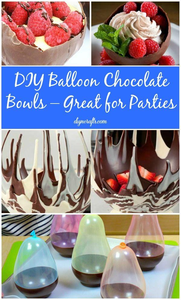 Bricolaje Bowls Globo de chocolate - grande para los partidos