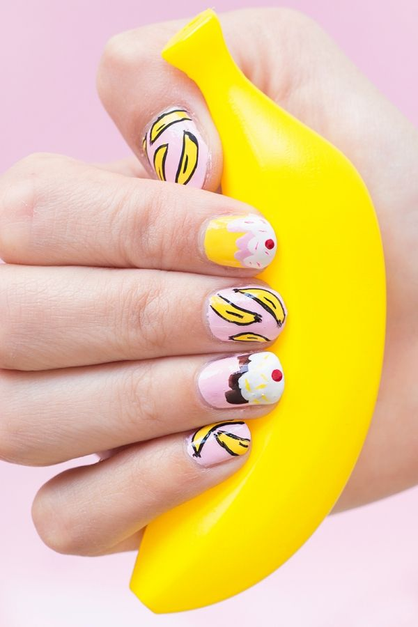 Fotografía - DIY Banana Split Manicura