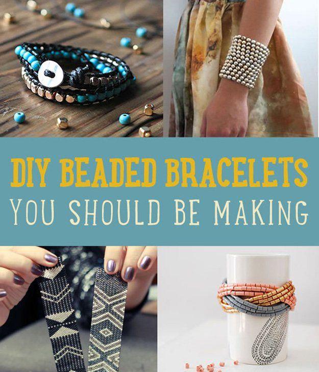 Hecho a mano DIY pulsera moldeada Tutoriales | http://artesaniasdebricolaje.ru/diy-beaded-bracelets-you-should-be-making/