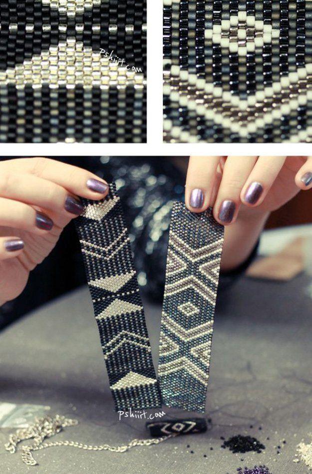 Ideas sencillas sobre diseños de bricolaje con cuentas pulsera e Ideas | http: //artesaniasdebricolaje.ru/diy-beaded-bracelets-you-should-be-making/