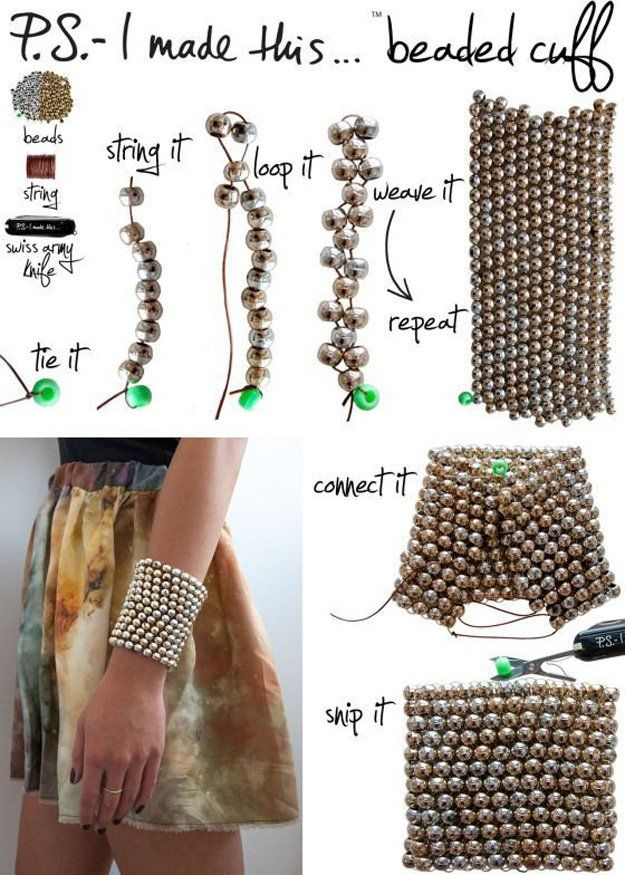 Bricolaje con cuentas brazalete pulsera Tutorial | http://artesaniasdebricolaje.ru/diy-beaded-bracelets-you-should-be-making/