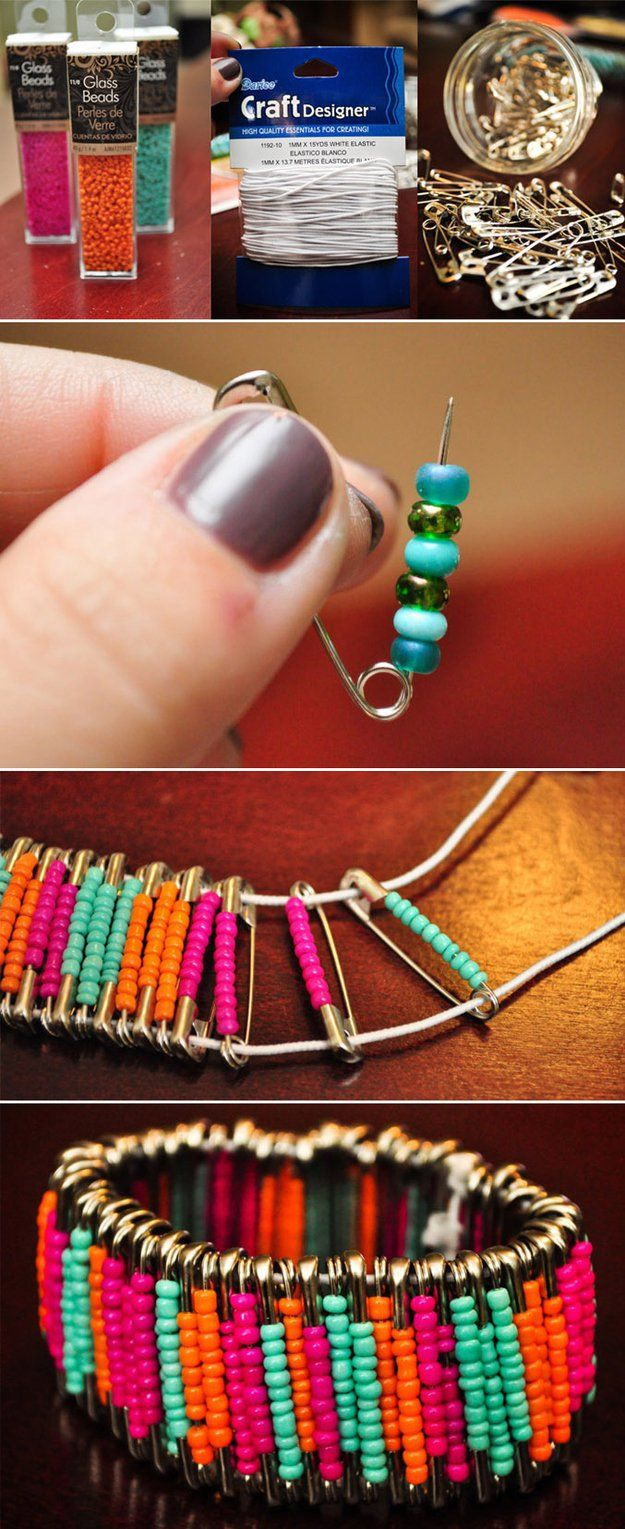 Fresco y fácil de bricolaje pulsera moldeada Designs | http://artesaniasdebricolaje.ru/diy-beaded-bracelets-you-should-be-making/