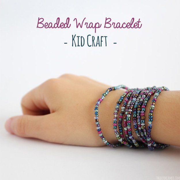 Colorido y fácil Wrap Pulsera de cuentas a muchachas | http://artesaniasdebricolaje.ru/diy-beaded-bracelets-you-should-be-making/