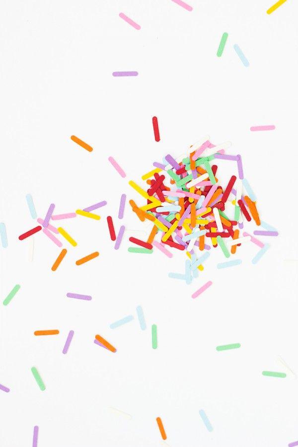 DIY Espolvorear Confeti