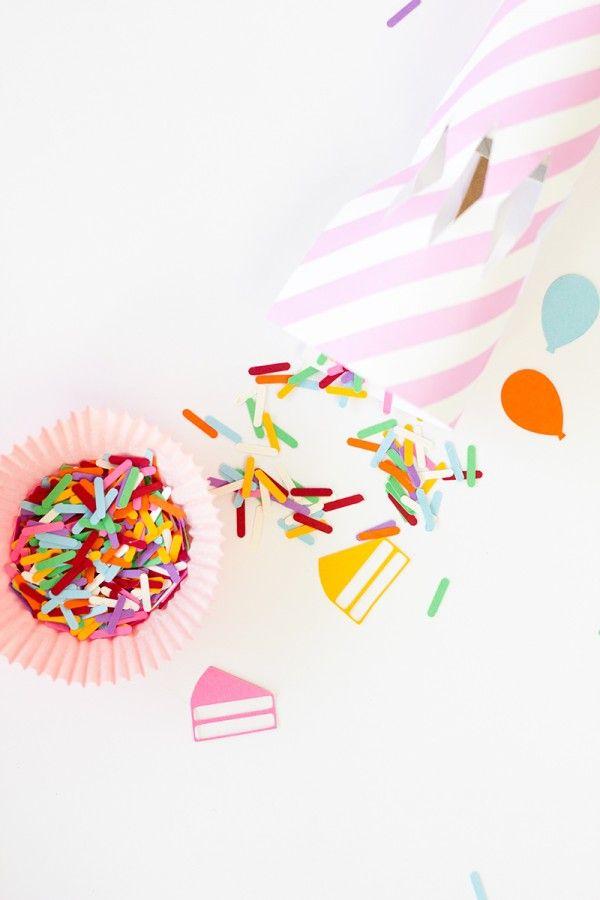 DIY cumpleaños Confeti