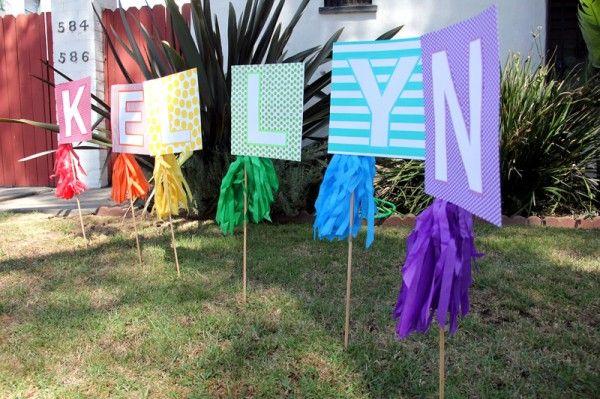 DIY cumpleaños Lawn Sign