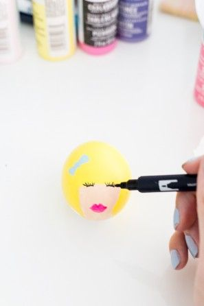 DIY Bouffant Huevos de Pascua