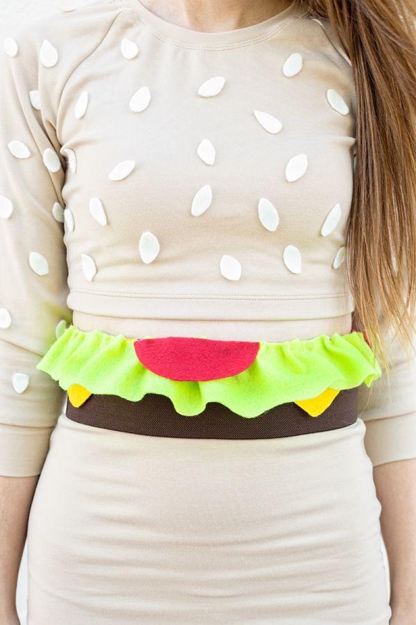 DIY hamburguesa de vestuario