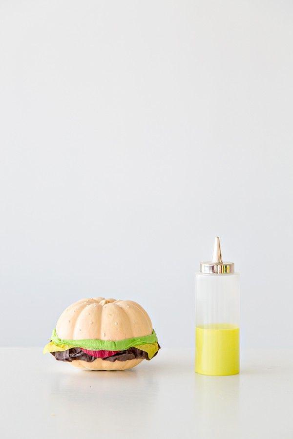 DIY hamburguesa calabaza