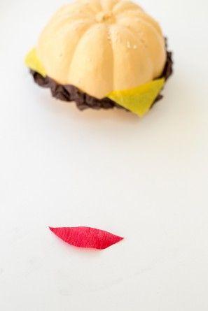 Bricolaje hamburguesa Pumpkins