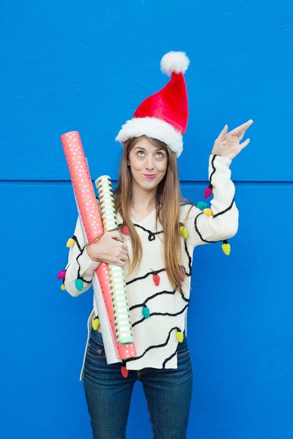 Fotografía - DIY Christmas Lights Suéter
