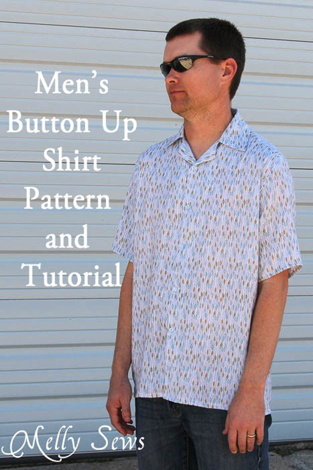 Hombres de bricolaje's Shirt Sewing Ideas | artesaniasdebricolaje.ru/diy-clothes-for-men/