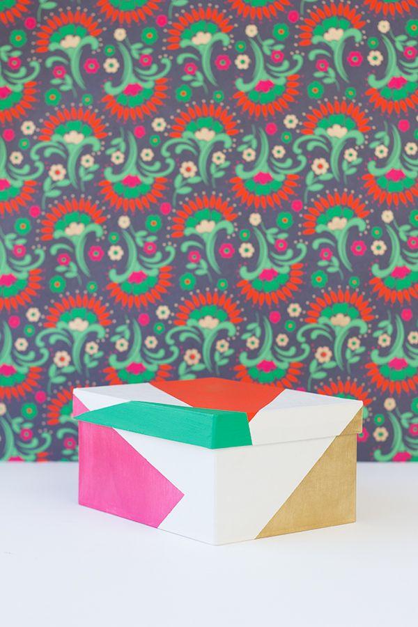 DIY color Bloqueado Cajas de regalo