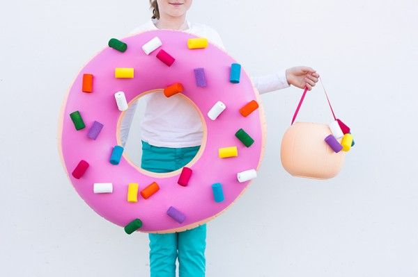 DIY Donut Vestuario y Donut Hole Treat Bucket