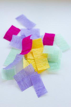 Bricolaje Crepe Papel Sprinkles