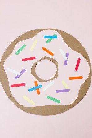 Gigante Cartón Donut DIY