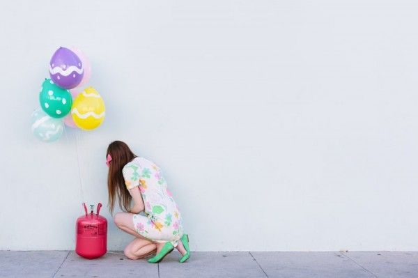 DIY del huevo de Pascua globos