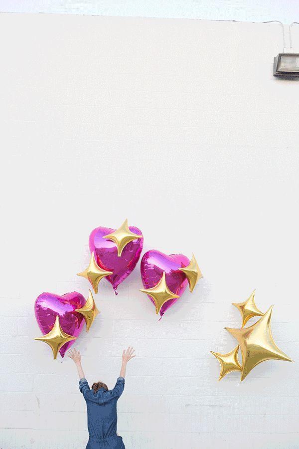 Fotografía - DIY Emoji Corazón Globos