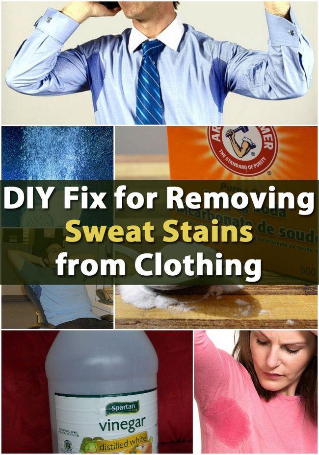 Fix DIY para eliminar las manchas de sudor de la ropa