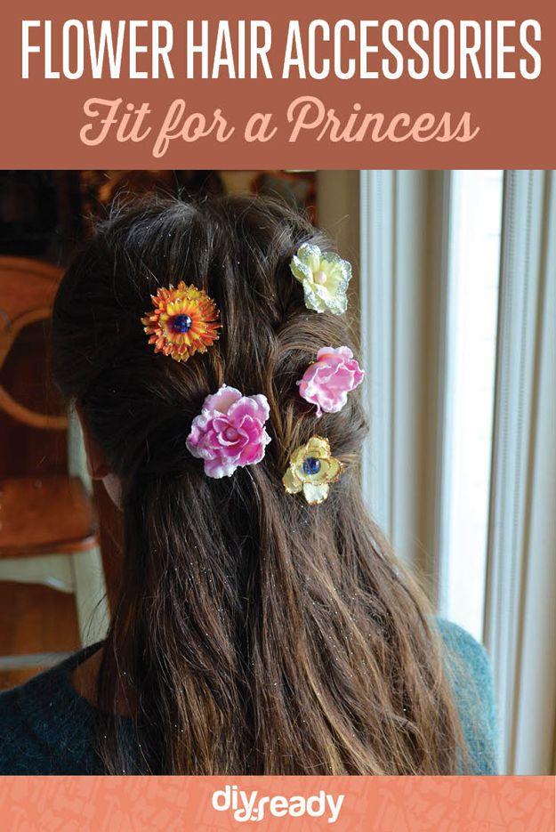 Pelo de la flor Accesorios Fit para una princesa | http://artesaniasdebricolaje.ru/flower-hair-accessories-fit-for-a-princess/