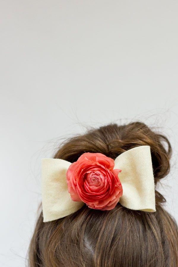 DIY flor fresca arcos del pelo