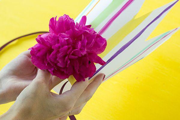 Bricolaje Coronas flor raya fresca