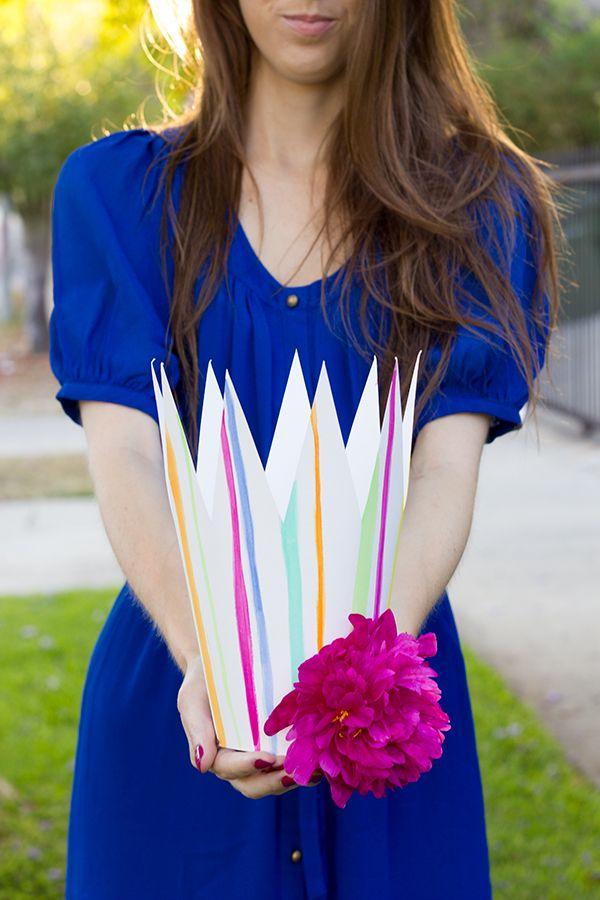 Coronas del partido Flor DIY