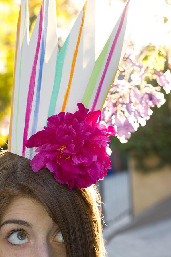 Coronas DIY del partido con flores frescas