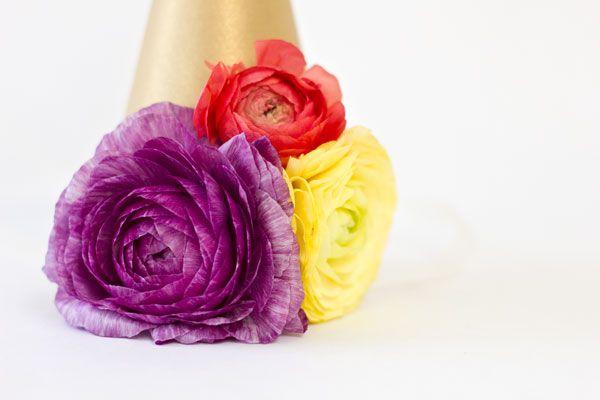 Ranunculus sombreros del partido de bricolaje