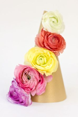 DIY Sombrero Partido floral fresco
