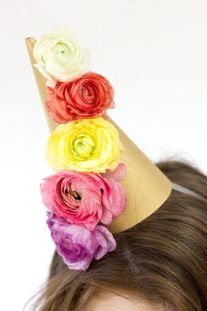 DIY Sombrero partido de la flor fresca