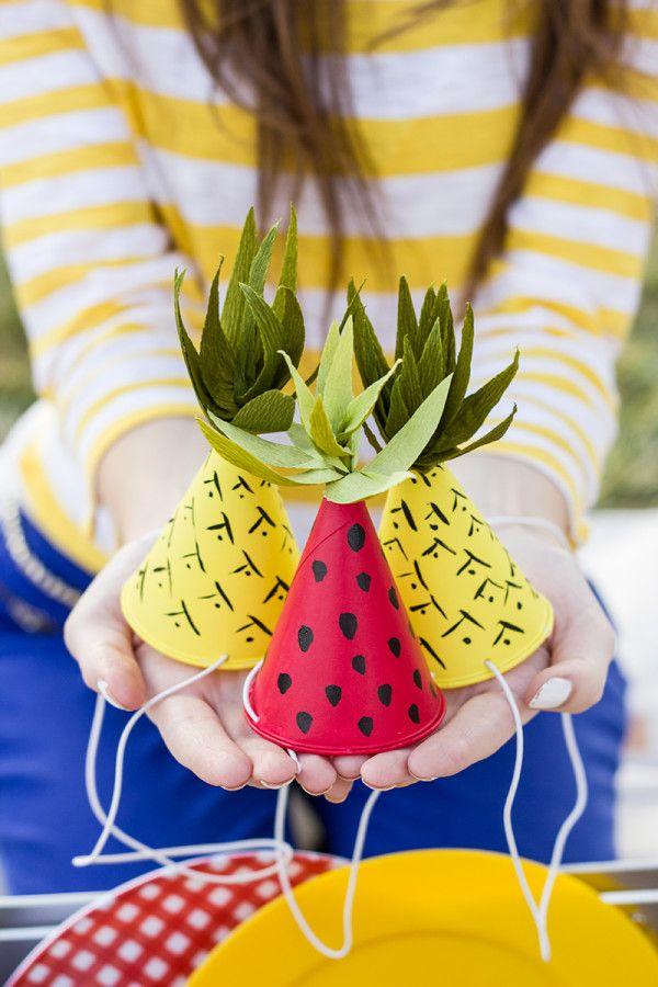 DIY sombreros del partido de la fruta-Inspirado