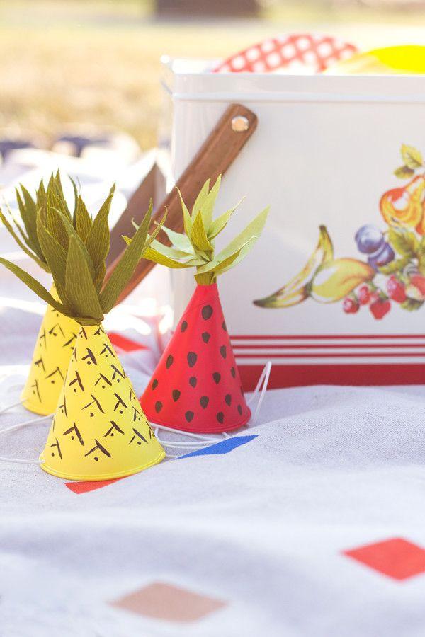 Inspirado-Fruit mini sombreros del partido de bricolaje