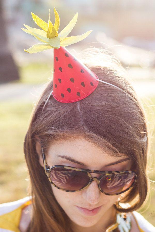 Fruit-Inspirado DIY mini sombreros del partido