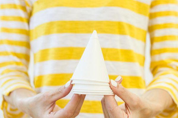 Guarnición de papel Cono Copas