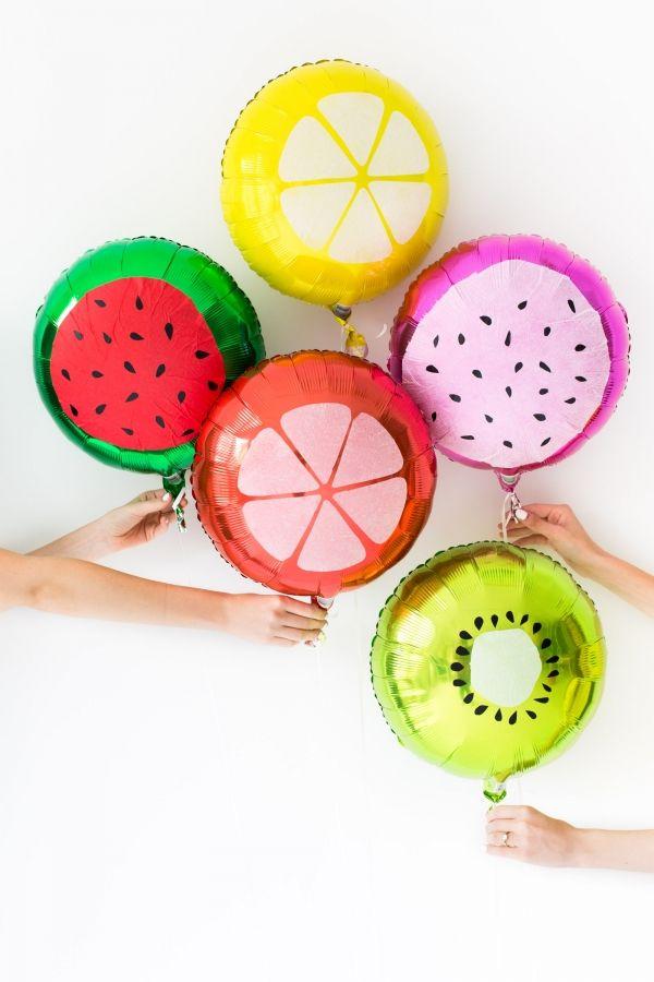 DIY Fruit Slice Globos
