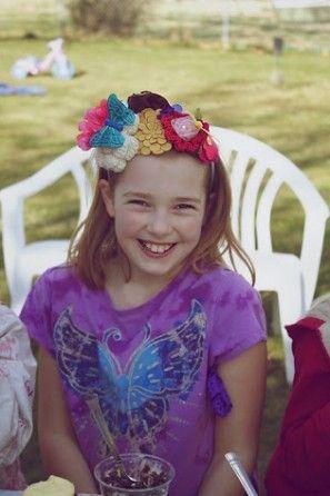 DIY-flor-cumpleaños-banda para la cabeza