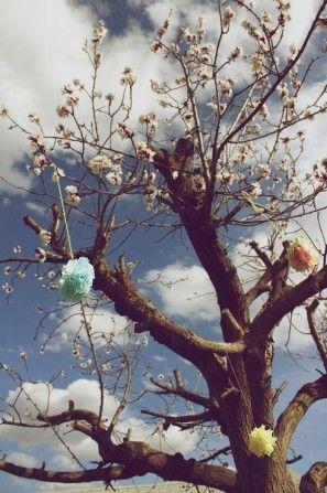 party-árbol-poms bricolaje-garden-