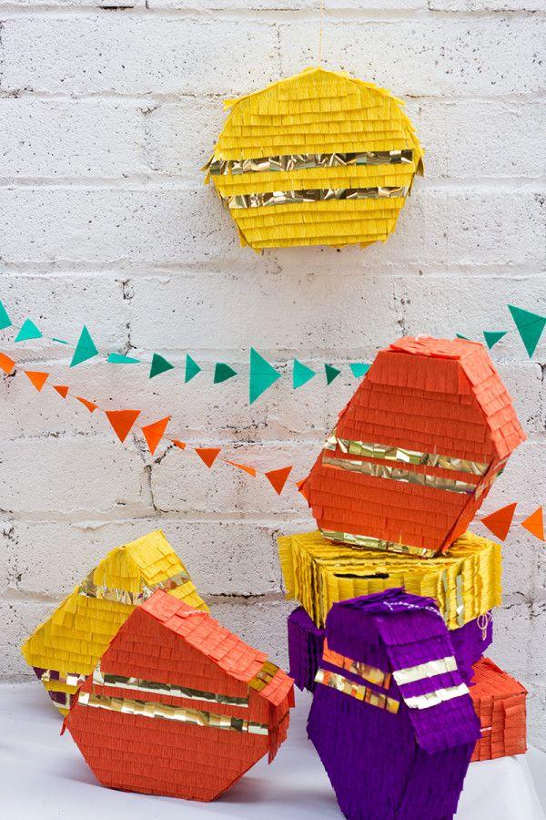 Piñatas geométricos bricolaje