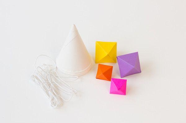 Sombrero del partido geométrica Suministros bricolaje