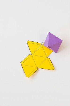 Papel geométrica Fold Gorro de fiesta