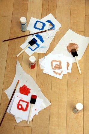 DIY geométricos pintados manta de picnic