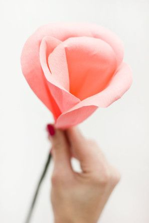 DIY Papel Crepe Rose Bud