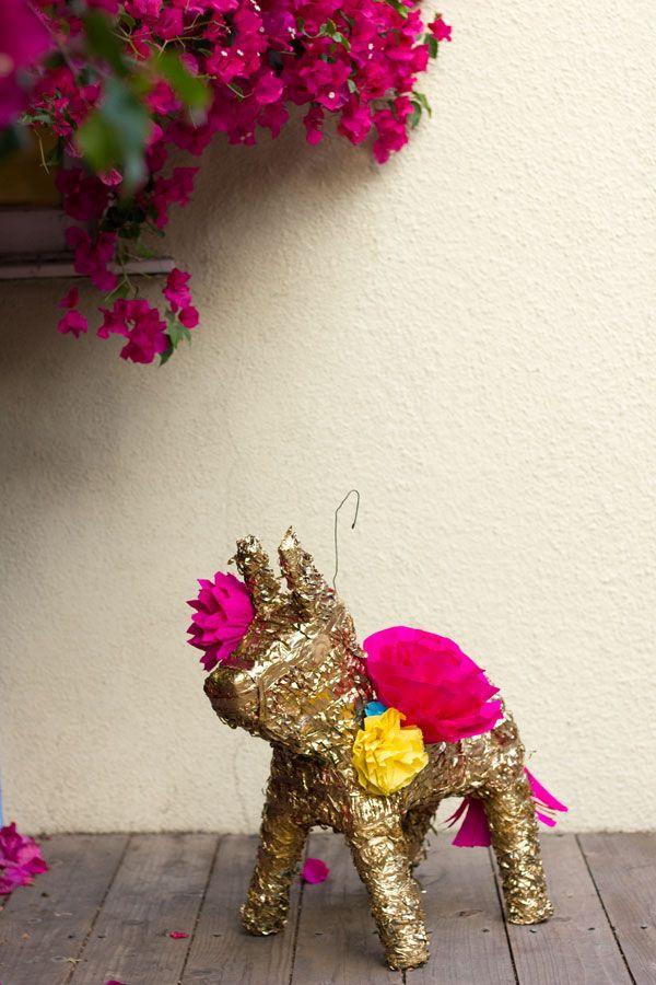 DIY Papel Dorado Flor Piñata