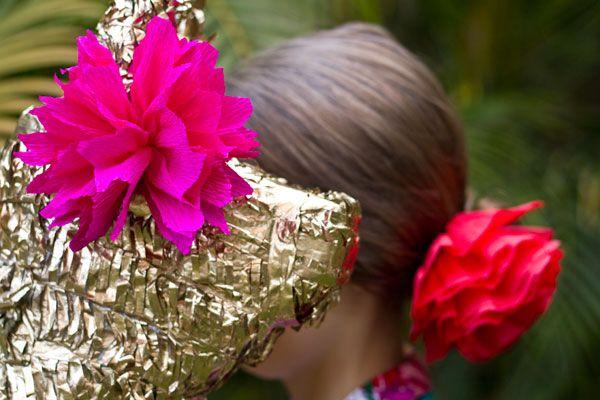 La flor de papel Piñata